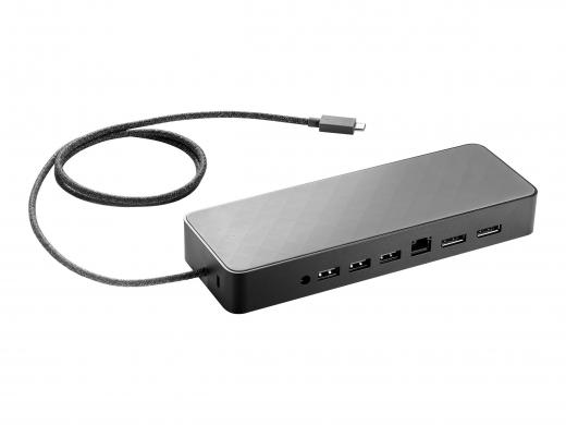 HP USB-C Universal Dock 90w + 4.5mm und USB Power Splitter