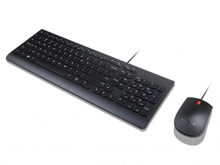 lenovo essential wired keyboard and mouse 4x30l79897. Black Bedroom Furniture Sets. Home Design Ideas